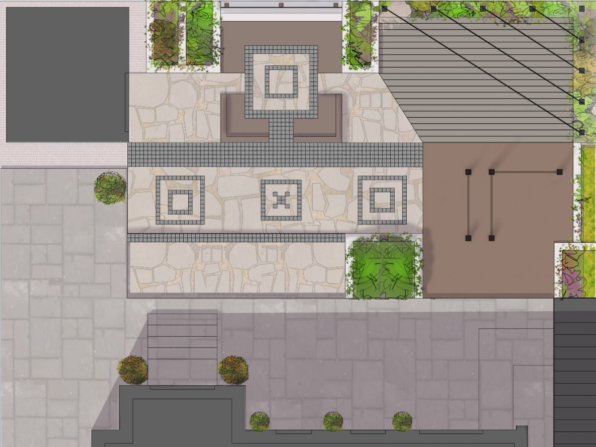 Concept garden design illustration